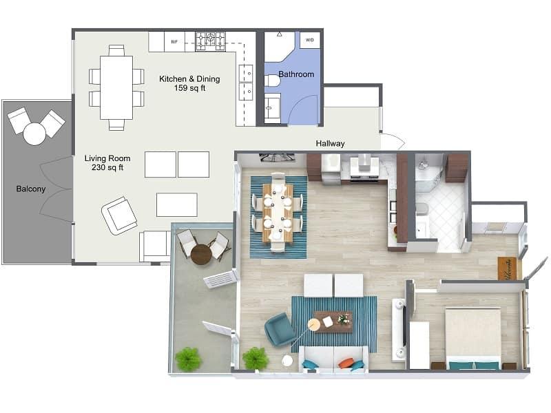 Estate agent floor plan Plymouth
