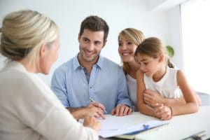 Estate agent meeting family conveyancing