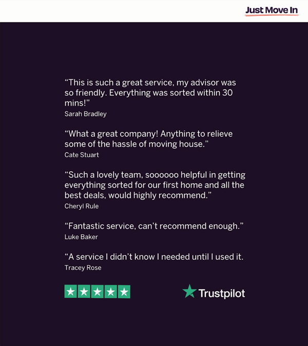 Reviews of Just Move In for estate agents